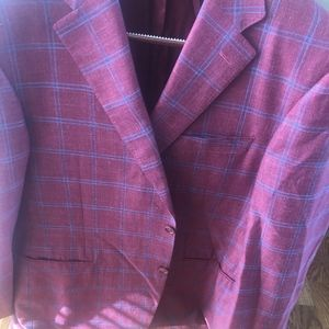Canali Red and Blue Sports Jacket